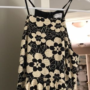 Black and yellow floral lined dress